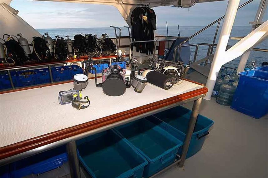 Camera Table - Mermaid I Liveaboard