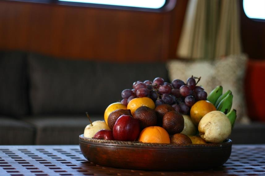 Fresh fruit available aboard the Mermaid II Liveaboard