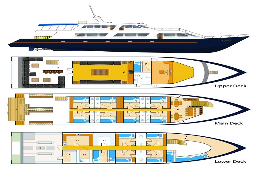 Deckplan Mermaid IIplano