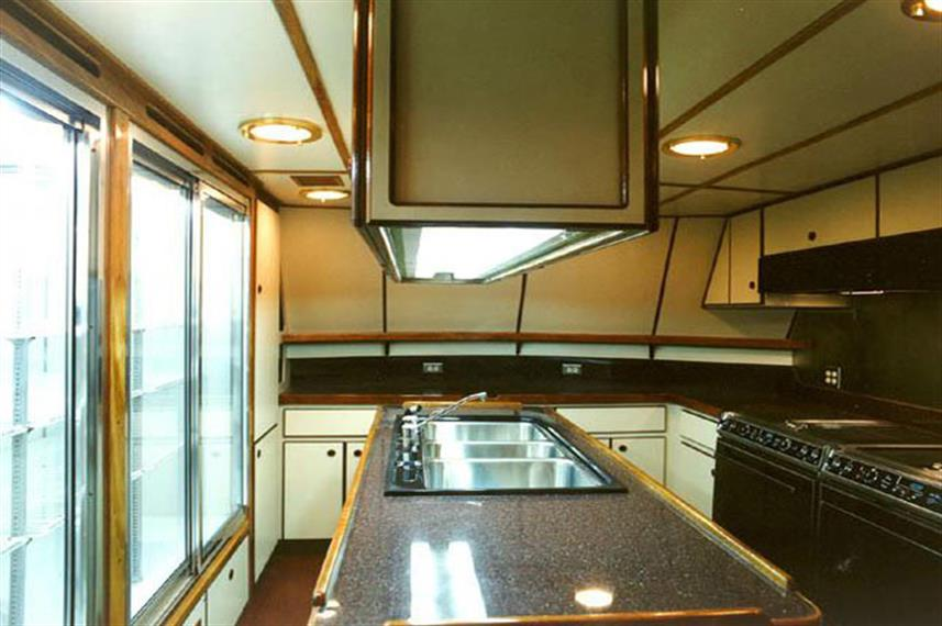 Galley aboard the Solmar V Liveaboard