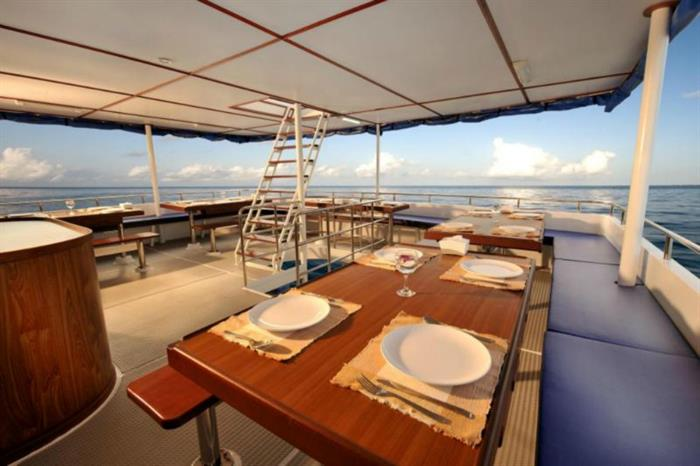 Outdoor Dining Area -  White Manta Liveaboard