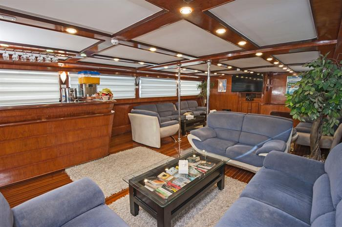 Bar en Lounge - Blue Horizon Liveaboard