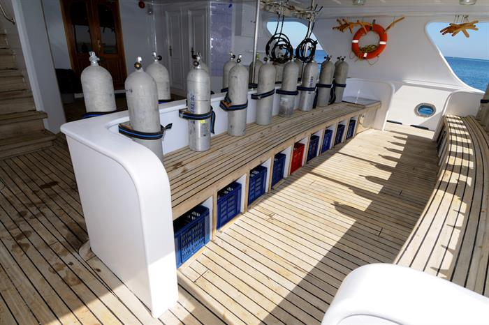 Dive deck area - Blue Melody liveaboard