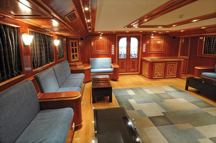 Indoor salon area - Blue Melody liveaboard