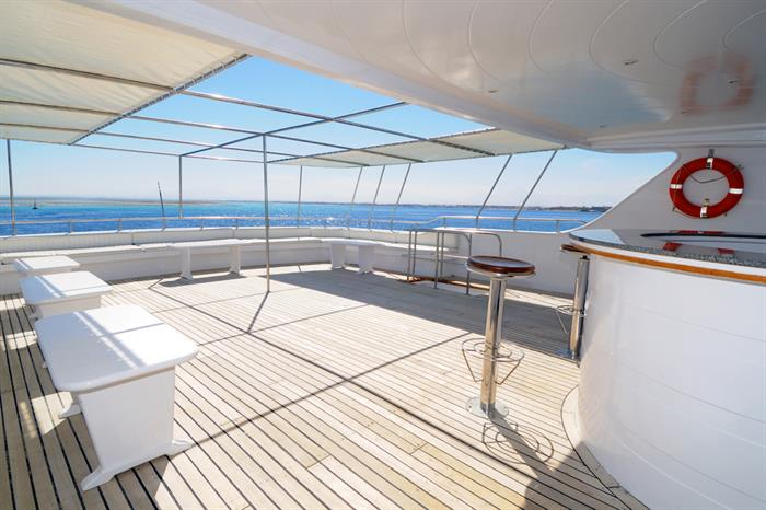 Plenty of space to relax onboard Blue Melody