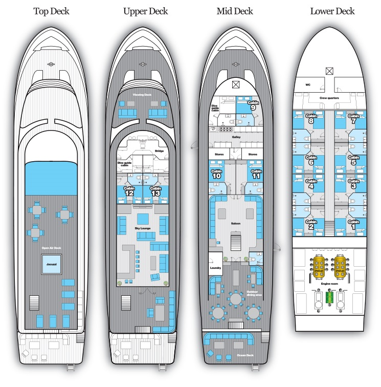 Deck Plan - Blue Voyager floorplan