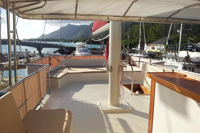 Galatea Liveaboard - Upper deck