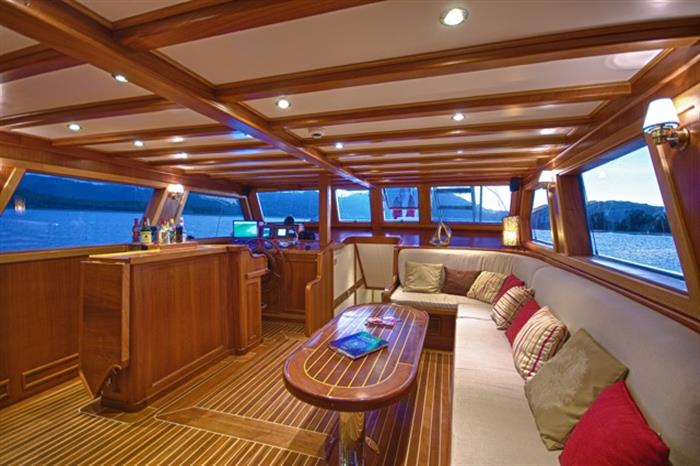Indoor salon area - Galatea Liveaboard