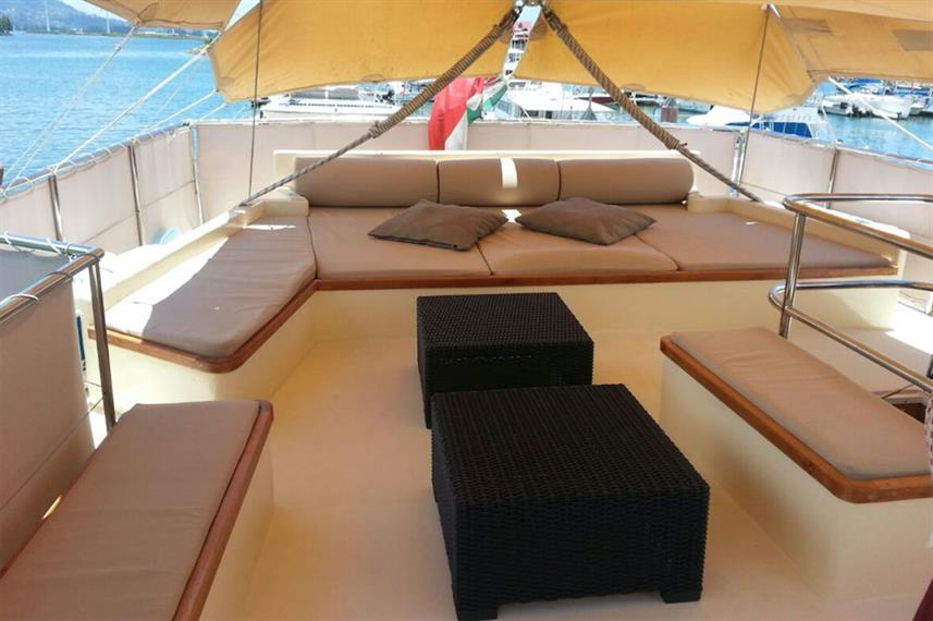 Outdoor Lounge - Galatea Live Aboard