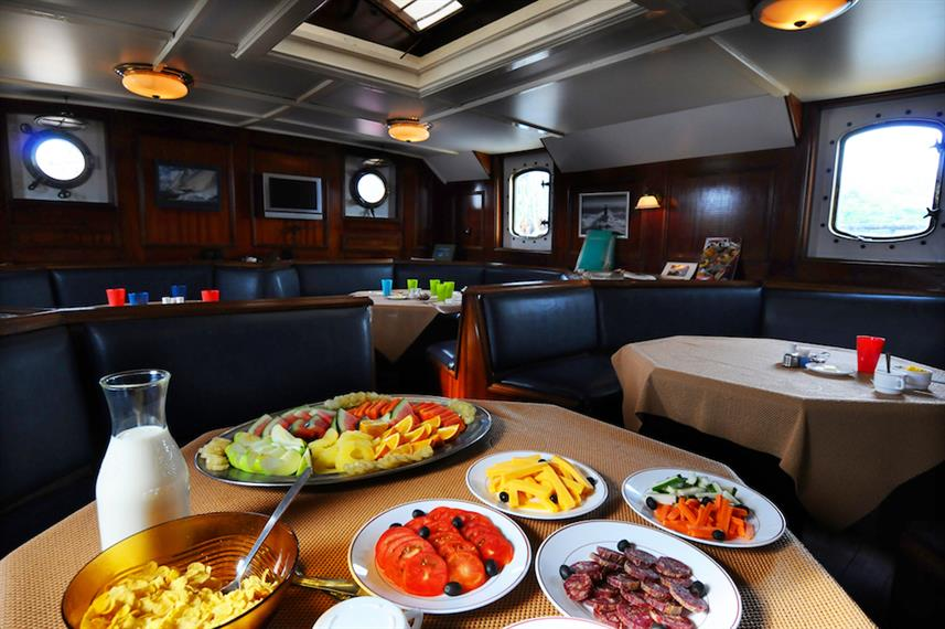 Food prepared onboard Sea Pearl Liveaboard