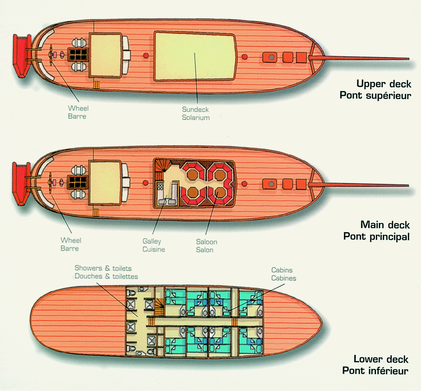 Sea Pearl Deck plan floorplan