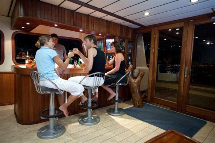 Bar area onboard Sea Bird Liveaboard