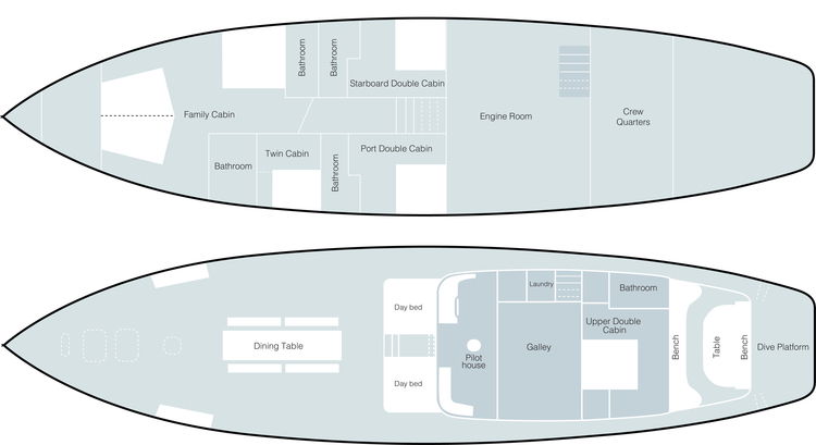 Tiger Blue Deck Plan plan