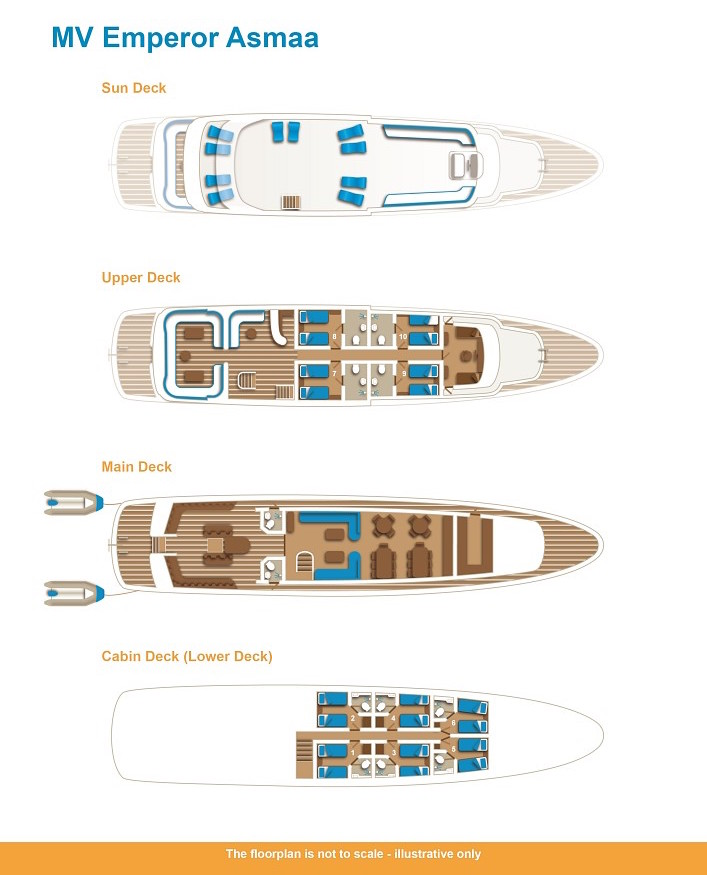 Emperor Asmaa Deck Plan floorplan