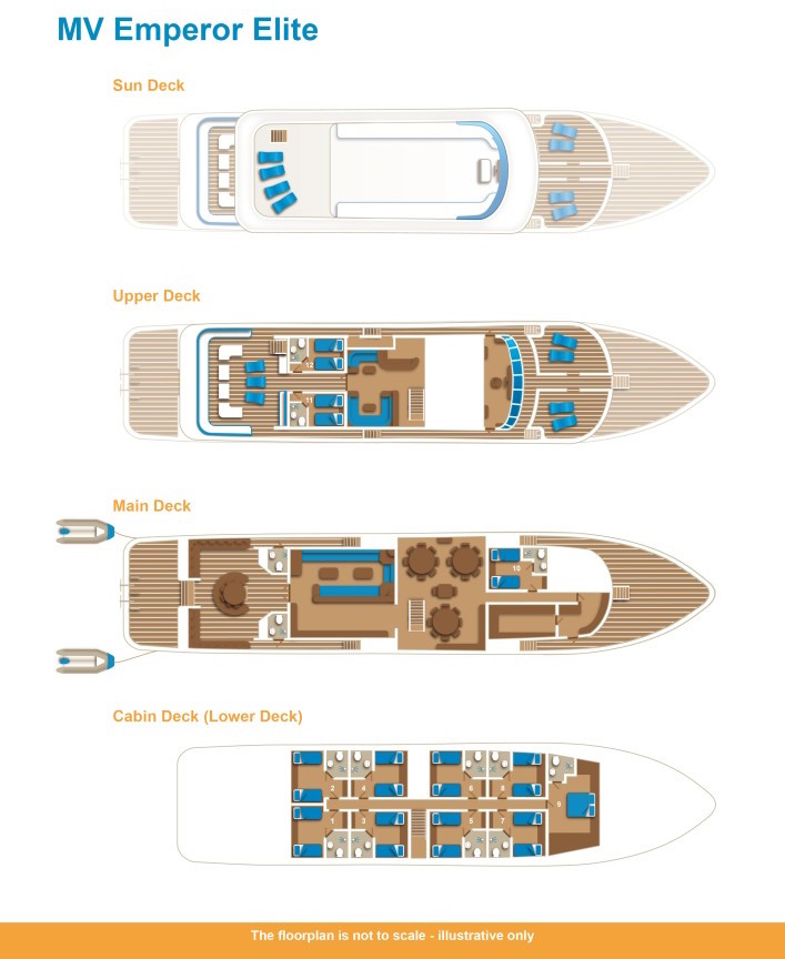 Emperor Elite Deck Plan floorplan