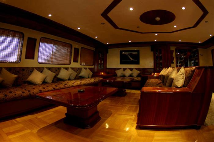Indoor Salon aboard the Emperor Elite Red Sea