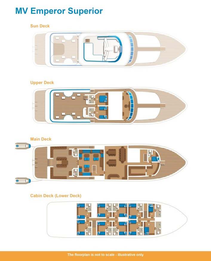 Emperor Superior Deck Plan floorplan
