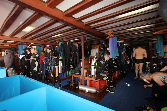 Spacious dive deck - Amira Indonesia