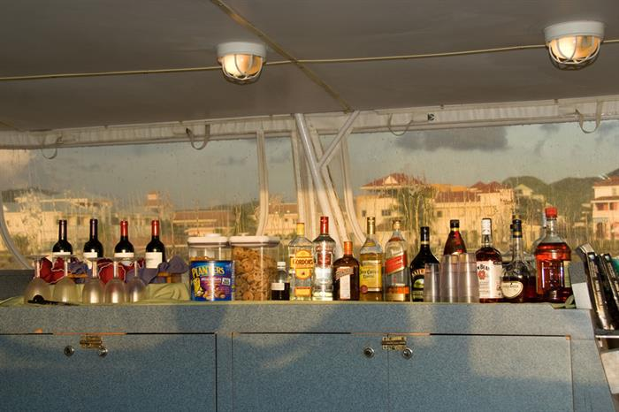 Alcoholic beverages available onboard Caribbean