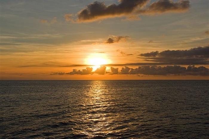 Caribbean sunset from Caribbean Explorer II