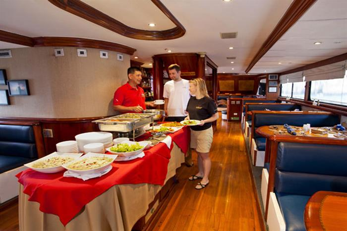 Buffet Lunch onboard Galapagos Sky