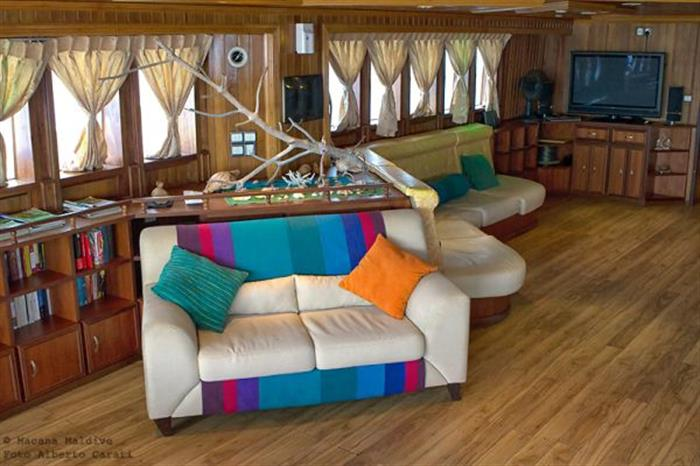 Comfortable areas onboard Princess Dhonkamana