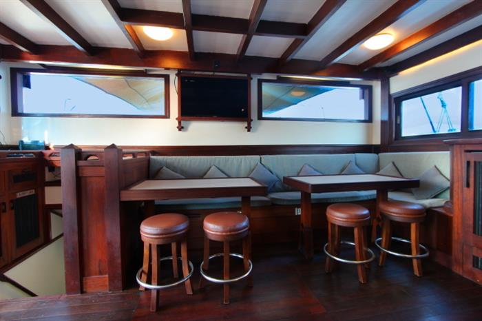 Indoor lounge area - Katharina Liveaboard