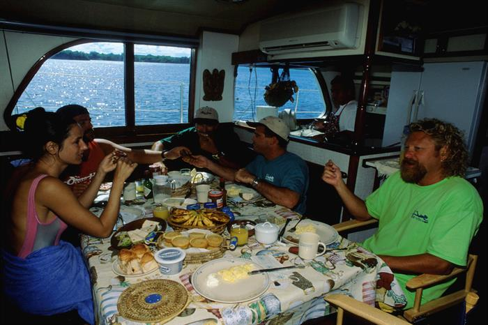 Dining area onboard - Ocean Hunter 1