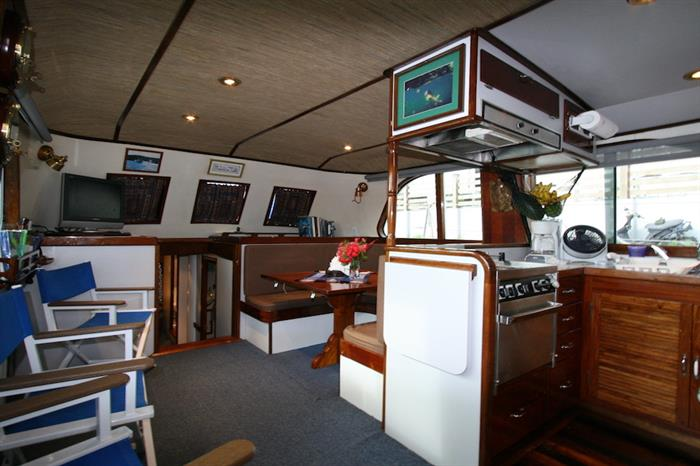 Salon area onboard Ocean Hunter 1