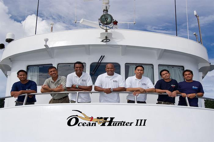 Professional, friendly, helpful crew onboard Ocean Hunter 3