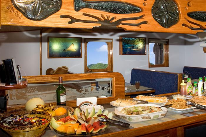 Great food served onboard Ocean Hunter 3