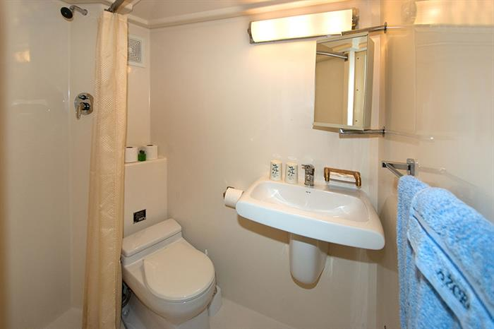 En-suite facilities onboard Atlantis Azores