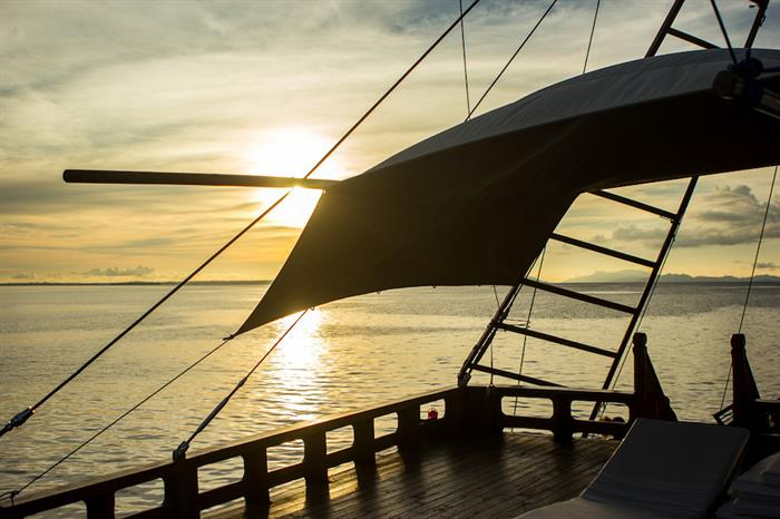 Sunset at the end of a days diving - Euphoria Liveaboard