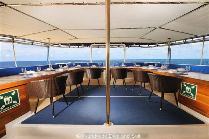 Outdoor Dining Area - Palau Siren Liveaboard