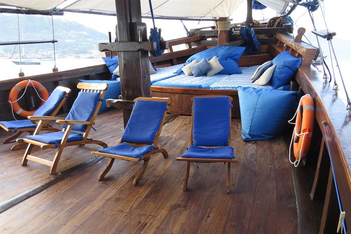 Chill out area on the bow of Moana