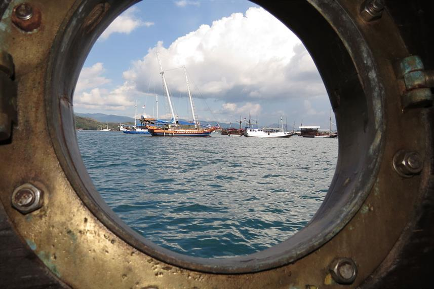 View from the cabin porthole