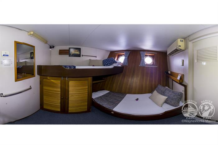 Deluxe Stateroom aboard the Raja Ampat Aggressor
