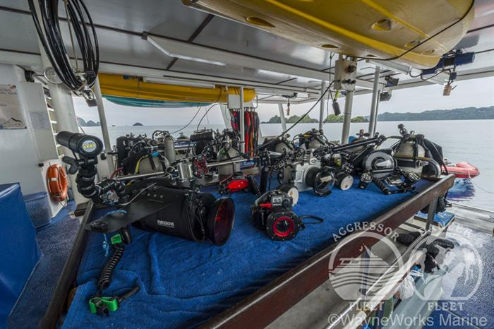 Camera Table on the Raja Ampat Aggressor
