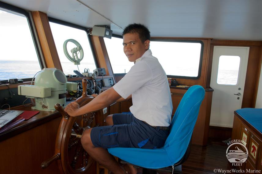 Captains Helm - Raja Ampat Aggressor