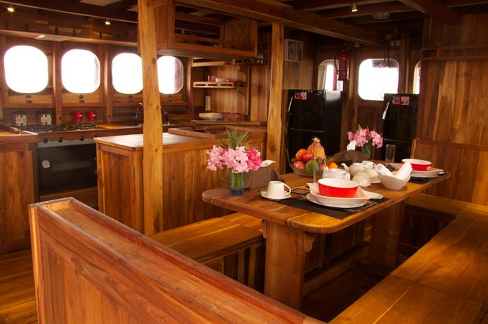 Dining area - Calico Jack Liveaboard