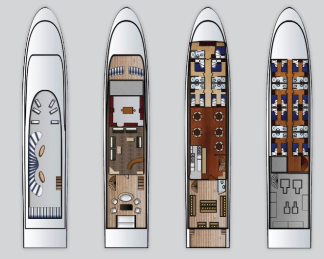 Andromeda Deck Plan floorplan
