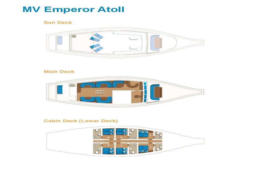 Emperor Atoll Deck Plan floorplan