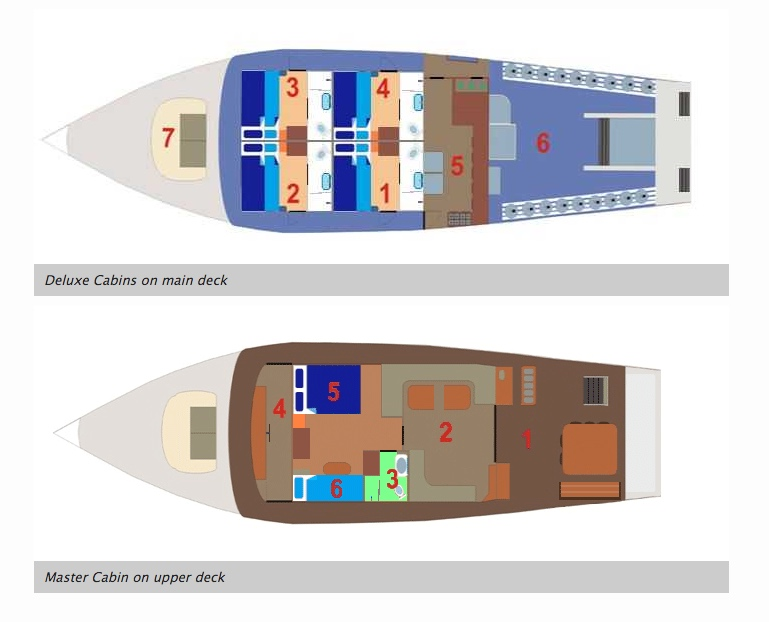 Giamani Liveaboard Deck Plan floorplan