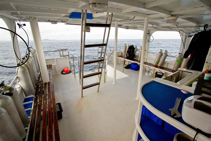Giamani Liveaboard spacious Dive Deck