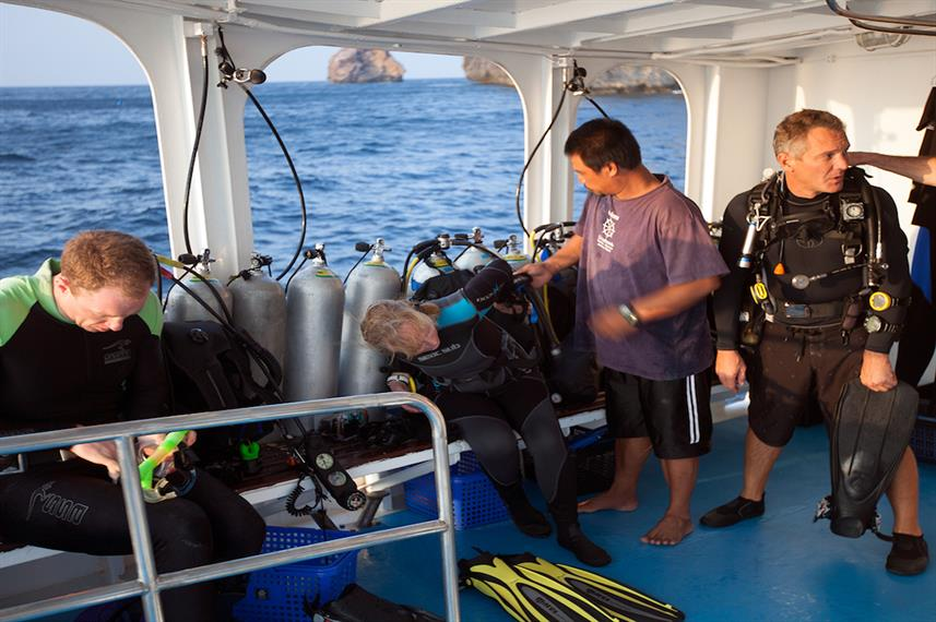 Only 10 divers onboard Giamani Liveaboard