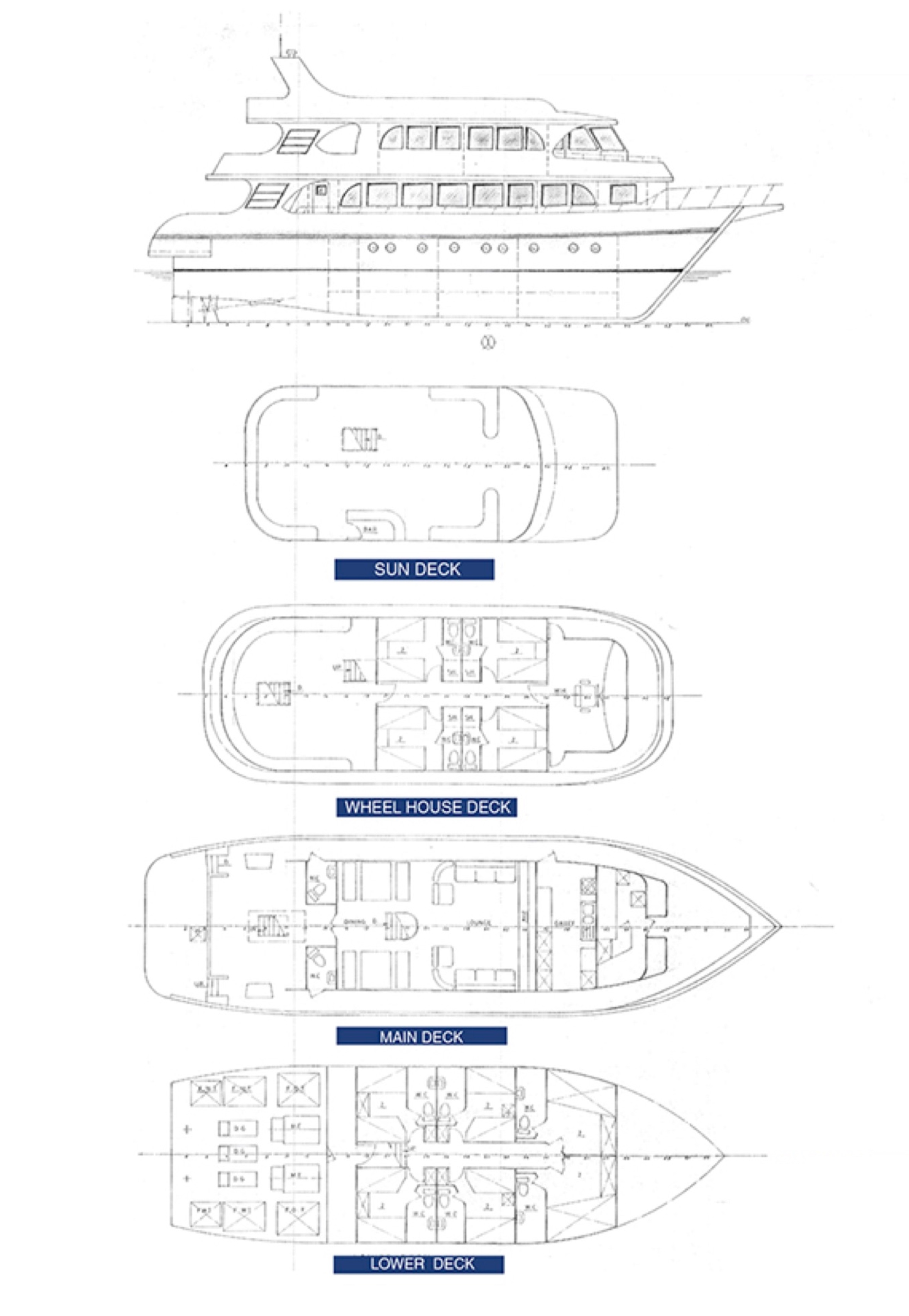 South Moon Liveaboard Deck Plan Grundriss