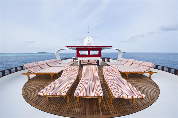 Comfortable sun deck - MV Theia