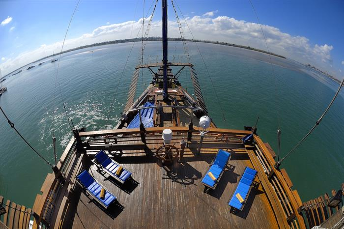 Aerial view of the sun deck - Sea Safari VII Indonesia