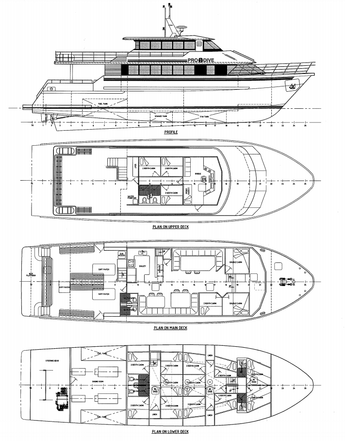 ScubaPro II Deck plan floorplan