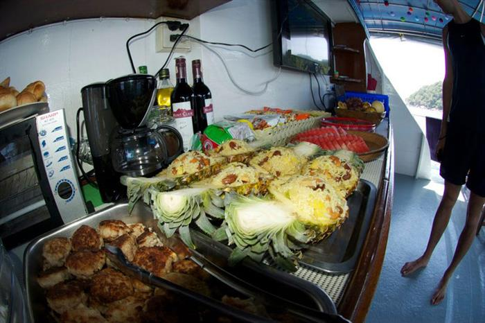 Plentiful food aboard the Thai Sea Liveaboard